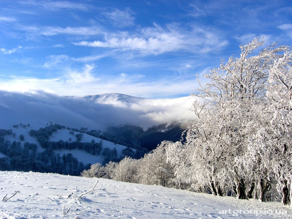 Картинки зима в карпатах 6